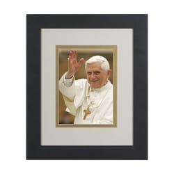 Pope Benedict Waving (Matted w/ Black Frame) 8x10