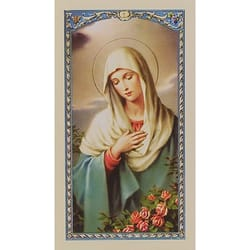 Prayer to Immaculate Virgin - Prayer Card