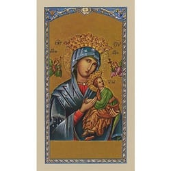 Prayer to Mary, Mother of Perpetual Help - Prayer Card