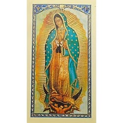 Prayer to Our Lady of Guadalupe - Prayer Card