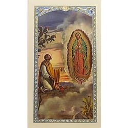 Prayer to St. Juan Diego with Our Lady of Guadalupe - Prayer Card