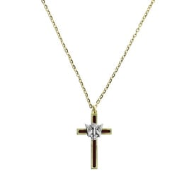 Red Holy Spirit Confirmation Cross Necklace