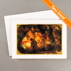 Christmas cards religious christian christmas cards the rembrandts pupil adoration of the shepherds christmas cards set of 20 m4hsunfo