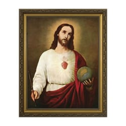 Sacred Heart Holding the Globe w/ Gold Frame (11x14)