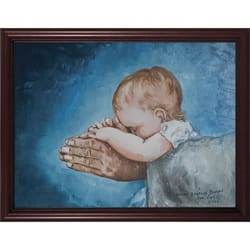 Safe in Arms by Susan Brindle w/ Cherry Frame