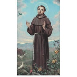 Saint Francis of Assisi Personalized Prayer Card (Priced Per Card)