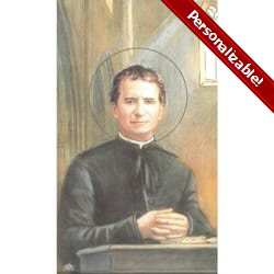 Saint John Bosco Personalized Prayer Cards (Priced Per Card)