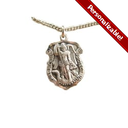 Saint Michael 'Shield' Medal - Sterling Silver