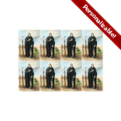Saint Peregrine Personalized Prayer Card (Priced Per Card)