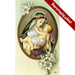 Saint Rose De Lima Personalized Prayer Card (Priced Per Card)