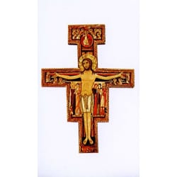 San Damiano Cross Personalized Prayer Card (Priced Per Card)