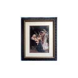 Song of Angels by Bouguereau, Double Mat Wood Frame, 14x17