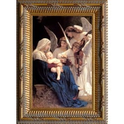 Song of Angels by Bouguereau, Ornate Gold Frame, 15x21