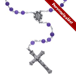 Sterling Silver Genuine Amethyst Rosary