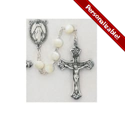 SS Mother of Pearl Rosary - 8mm