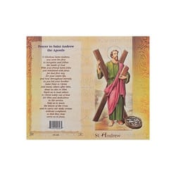 St. Andrew (Apostle) - Mini Lives of the Saints Folded Prayer Card