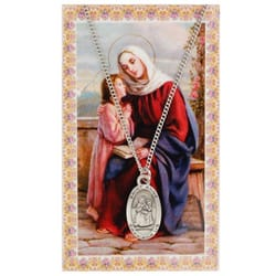 St. Anne Patron Saint Prayer Card w/ Medal <!annemedal>