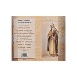 St. Catherine of Siena - Mini Lives of the Saints Folded Prayer Card