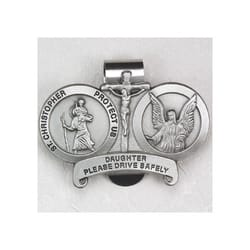 St. Christopher/Daughter Visor Clip