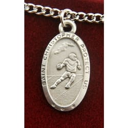 Pewter St. Christopher Medal - Football