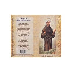 St. Francis of Assisi - Mini Lives of the Saints Folded Prayer Card