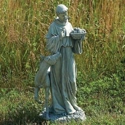 St. Francis with Horse Garden Figure, 25.5 inches