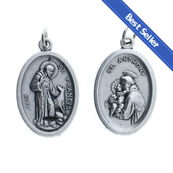 St francis of assisi medals the catholic company st francis st anthony medal pkg of 25 aloadofball Choice Image
