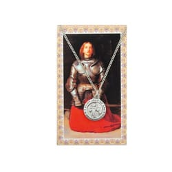 St. Joan of Arc Patron Saint Prayer Card w/Medal<!joanmed>