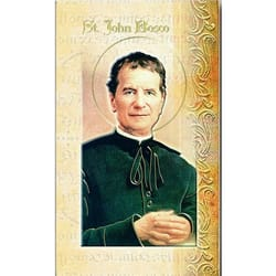 St. John Bosco - Mini Lives of the Saints Folded Prayer Card