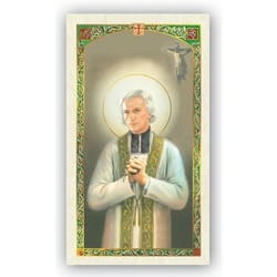 St. John Vianney Laminated Prayer Card