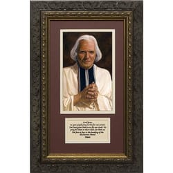 St. John Vianney Framed Print with Prayer for Priests