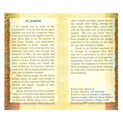 St. Joseph - Mini Lives of the Saints Folded Prayer Card