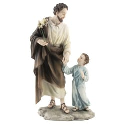 St. Joseph w/ Child Jesus Veronese Statue, 8.25 inches