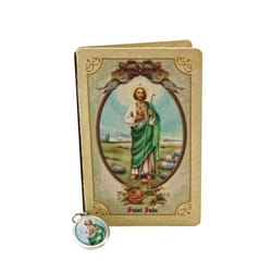 St. Jude Folded Prayer Card with Medal
