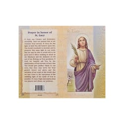 St. Lucy - Mini Lives of the Saints Folded Prayer Card