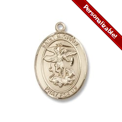 St. Michael the Archangel Pendant - 14KT