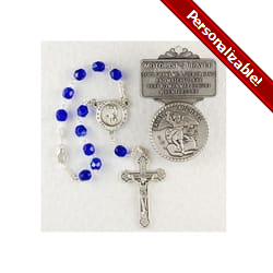 St. Michael Auto Rosary and Visor Clip