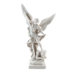 St. Michael Statue - Antique White - 8 inches