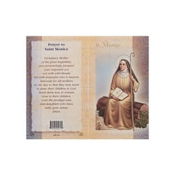 St. Monica - Mini Lives of the Saints Folded Prayer Card