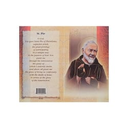 St. Padre Pio - Mini Lives of the Saints Folded Prayer Card