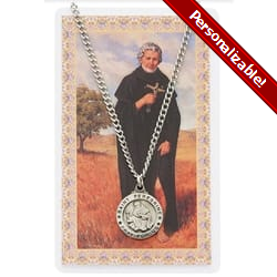 St. Peregrine Patron Saint Prayer Card w/Medal<!peregrinemedal>