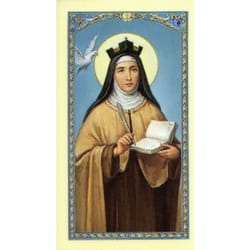 St Teresa Laminated Prayer Card