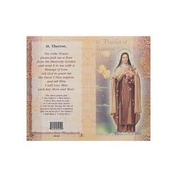 St. Therese of Lisieux - Mini Lives of the Saints Folded Prayer Card