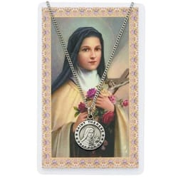 St. Therese Medal with Prayer Card