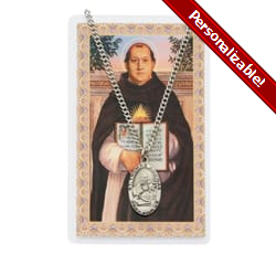 St. Thomas Aquinas Medal with Prayer Card