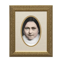 St. Thérèse of Lisieux (Matted, w/ Gold Frame) 8x10