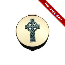 Stamped Pyx w/ Celtic Cross