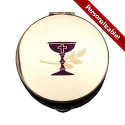 Stamped Pyx w/ Purple Chalice