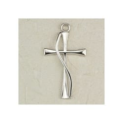 Sterling Silver Contemporary Cross with 18 inch chain