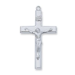 Sterling Silver Crucifix with 24 inch chain